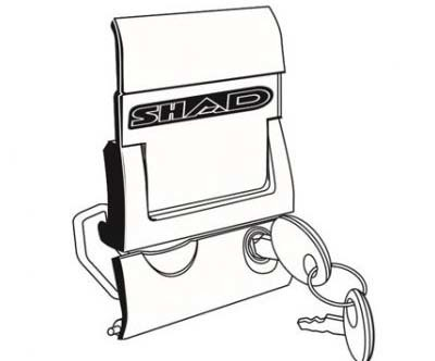 Mechanizm zamykania/lock system do kufra SHAD SH43