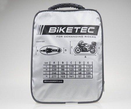 Pokrowiec wodoodporny na motocykl z kufrem BIKETEC AQUATEC S