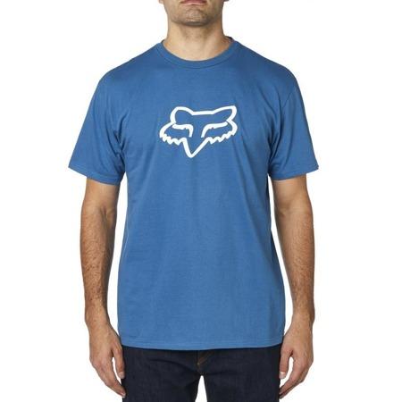 T-SHIRT FOX LEGACY FOX HEAD DUSTY BLUE