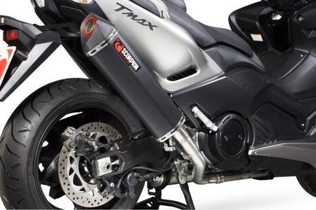 Yamaha TMAX 530 12/17 Serket Full System Stal Pokryta Czarną Ceramiką  RYA182BCER